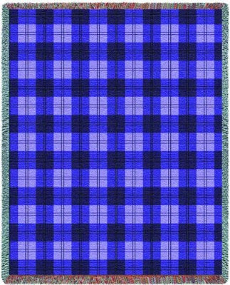 Boysenberry Plaid (Tapestry Throw)