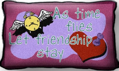As Time Flies Friendship (Pillow)