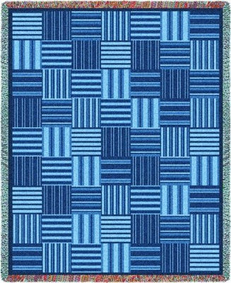 Tile Blue (Tapestry Throw)