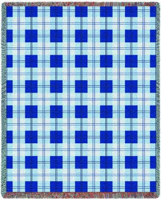 Blueberry Plaid (Tapestry Throw)