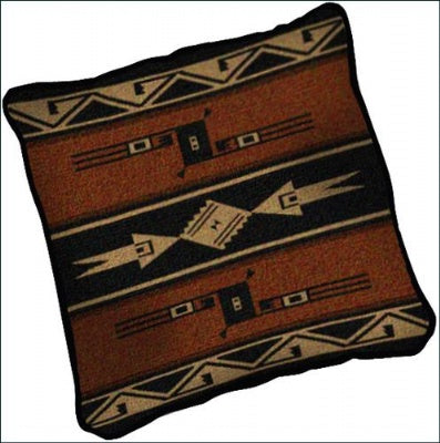 Hopi Blanket Earth Pillow (Pillow)