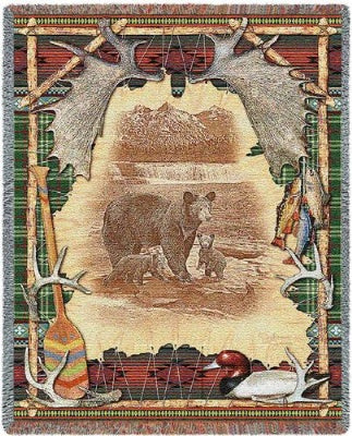 Antler Lodge Tapestry (Tapestry Throw)