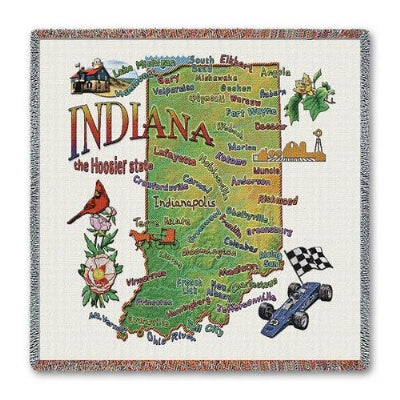 Indiana State Lapsq   (Tapestry Throw)