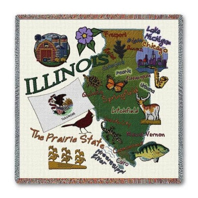 Illinois State Lapsq   (Tapestry Throw)