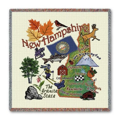 New Hampshire State Lapsq  (Tapestry Throw)