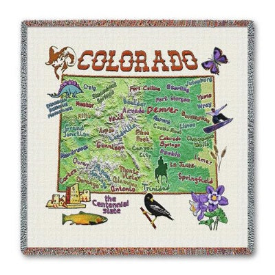 Colorado State Lapsq  (Tapestry Throw)