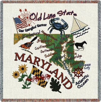 Maryland State Lapsq (Tapestry Throw)