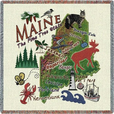 Maine State Lapsq (Tapestry Throw)