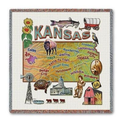 Kansas State Lapsq (Tapestry Throw)