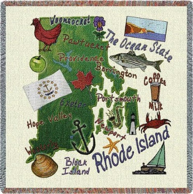Rhode Island State Lapsq (Tapestry Throw)