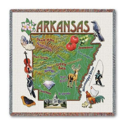 Arkansas State Lapsq (Tapestry Throw)