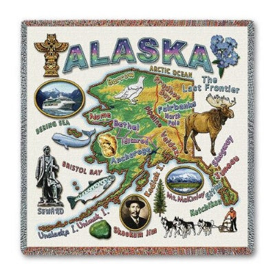 Alaska State Lapsq (Tapestry Throw)