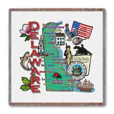 Delaware State Lapsq (Tapestry Throw)