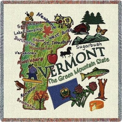Vermont State Lapsq (Tapestry Throw)
