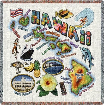Hawaii State Lapsq (Tapestry Throw)