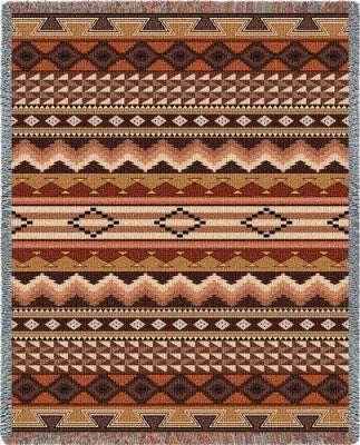 Navajo Clay Blanket (Tapestry Throw)