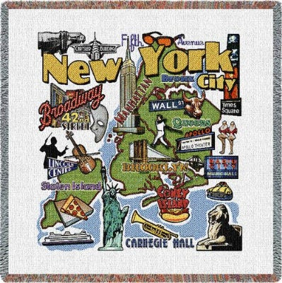 New York City (Tapestry Throw)