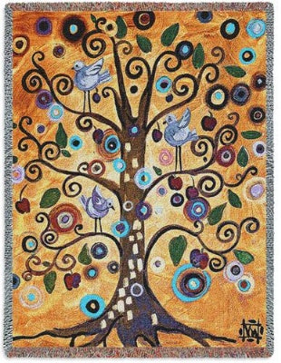 Untitled/Tree of Life (Tapestry Throw)