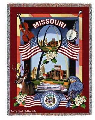 State Of Missouri Tap (Tapestry Throw)