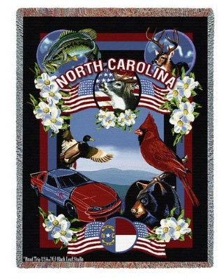 State Of North Carolina (Tapestry Throw)