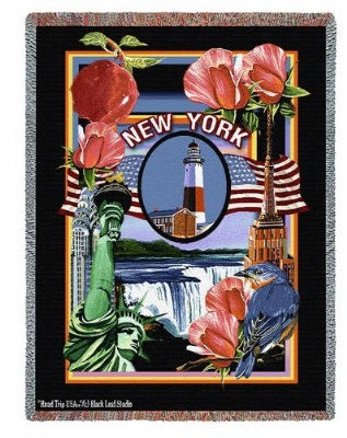State Of New York Tap (Tapestry Throw)