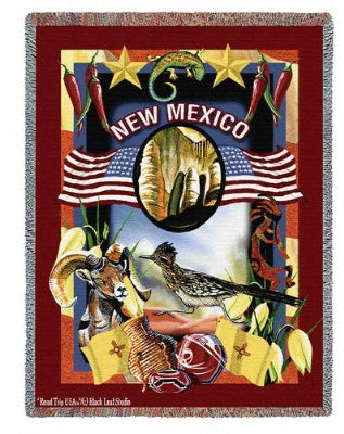 State Of New Mexico Tap (Tapestry Throw)