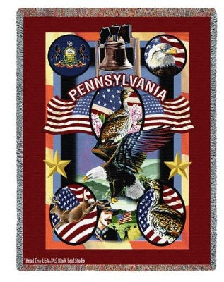 State Of Pennsylvannia Tap (Tapestry Throw)