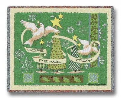 Hope Peace Joy (Tapestry Throw)
