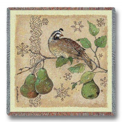 Partridge And Pears (Tapestry Throw)