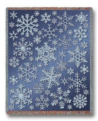 Snowflakes (Tapestry Throw)