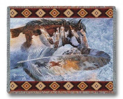 Horsefeathers (Tapestry Throw)