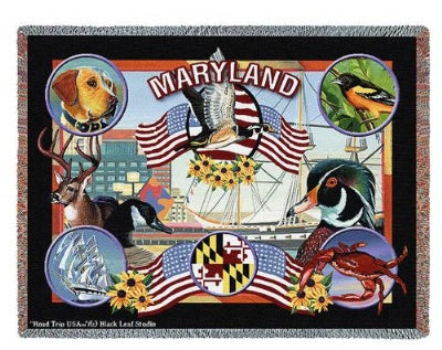 State Of Maryland Tap (Tapestry Throw)