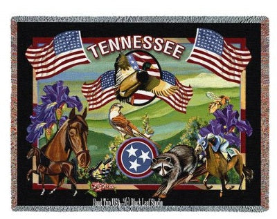 State Of Tennessee Tap (Tapestry Throw)