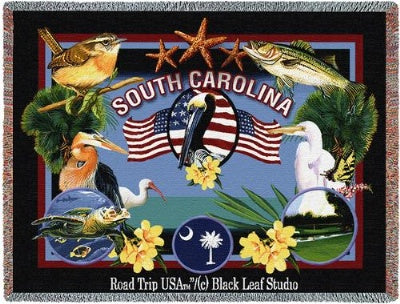 State Of South Carolina (Tapestry Throw)