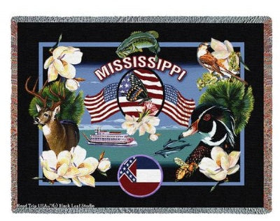 State Of Mississippi Tap (Tapestry Throw)
