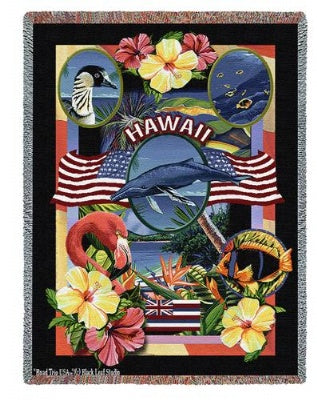 State Of Hawaii Tap (Tapestry Throw)