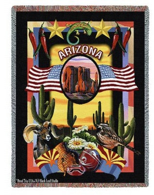 State Of Arizona Tap (Tapestry Throw)