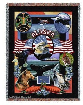 State Of Alaska Tap (Tapestry Throw)