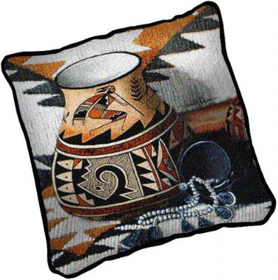 Kokopelli Pot Pillow (Pillow)