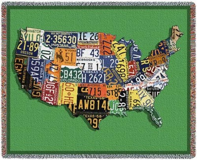Usa Tags Tapestry (Tapestry Throw)
