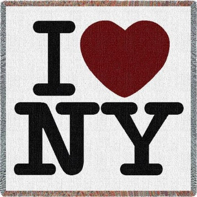 I Love New York Lap Square (Tapestry Throw)
