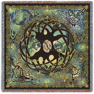 Celtic Tree of Life Tap (Tapestry Throw)