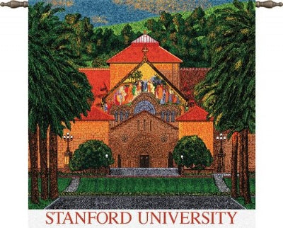 Stanford U Mem Church Wood Rd (Wall Hanging)