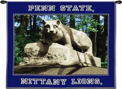 Penn St U Lion On Rock Woodrd (Wall Hanging)