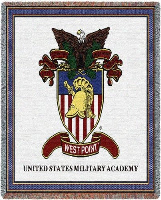 University West Point Crest (Tapestry Throw)