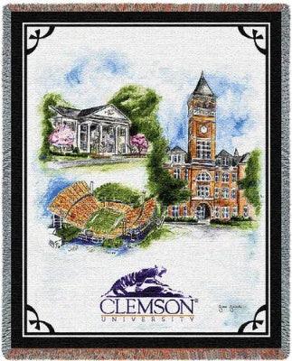 Clemson University Collage (Tapestry Throw)