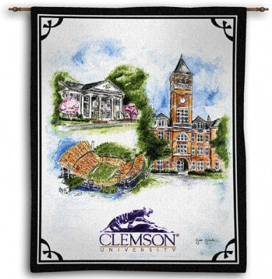 Clemson University Collage Wh (Wall Hanging)
