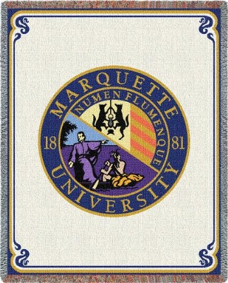 University Marquette Seal (Tapestry Throw)