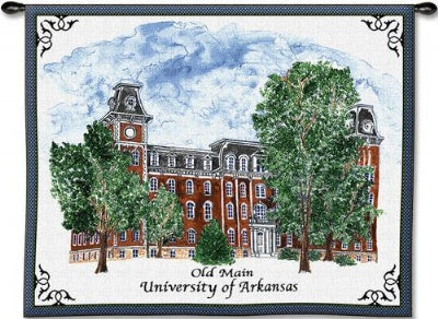 University Arkan Old Main Wh Woodrd (Wall Hanging)