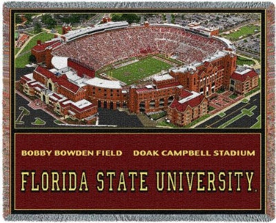 Florida St University Doak Campbell (Tapestry Throw)